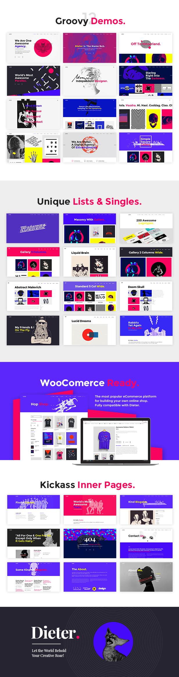 Dieter - Authentic Artist & Creative Design Agency Theme - 1